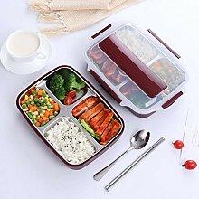 Bento Lunchbox mit 4 Fächern, isoliert,