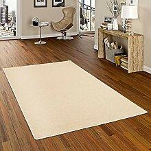 Bentzon Teppich Flachgewebe Beige in 24 Größen