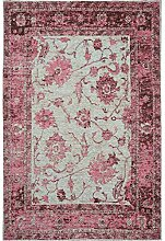 Benuta Flachgewebe Teppich Frencie Flora Lila