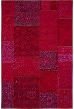 Benuta Flachgewebe Teppich Frencie Patchwork Rot