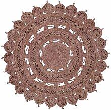 benuta Flachgewebe Teppich Samsara rund Lila ø