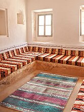 benuta Flachgewebe Teppich Stay Beige/Blau 155x235