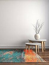 benuta Flachgewebe Teppich Stay Türkis 115x180 cm | Pflegeleichter Teppich für Flur und andere Wohnräume