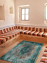 benuta Flachgewebe Teppich Tosca Türkis 75x165 cm