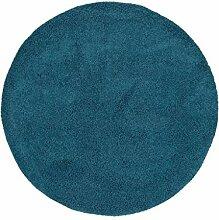 Benuta Hochflorteppich Swirls Shaggy Langflor Blau