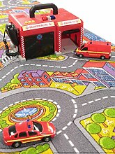 benuta Kinder-und Spielteppich Strasse Big City, Kunstfaser, Multicolor, 140 x 200.0 x 2 cm