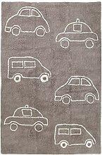 Benuta Kinderteppich Bambini Cars Taupe 120x180 cm