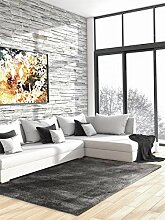 benuta Shaggy Hochflor Teppich Cosy Taupe 160x230 cm   Langflor Teppich für Schlafzimmer und Wohnzimmer