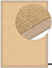benuta Sisal Teppich mit Bordüre Beige 120x180 cm