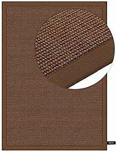 benuta Sisal Teppich mit Bordüre Beige 160x230 cm   Naturfaserteppich für Flur und Wohnzimmer