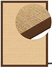 benuta Sisal Teppich mit Bordüre Braun 120x180 cm