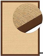 benuta Sisal Teppich mit Bordüre Braun 160x230 cm