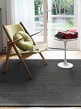 benuta Sisal Teppich mit Bordüre Grau 140x200 cm