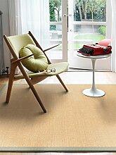 benuta Sisal Teppich mit Bordüre Grau 160x230 cm