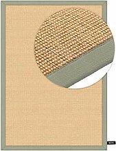 benuta Sisal Teppich mit Bordüre Grün 120x180 cm