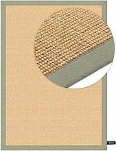 benuta Sisal Teppich mit Bordüre Grün 160x230 cm