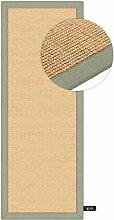 benuta Sisal Teppich mit Bordüre Grün 80x150 cm