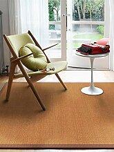 benuta Sisal Teppich mit Bordüre Hellbraun 80x150