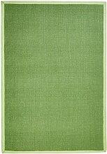 benuta Sisal Teppich mit Bordüre Hellgrün