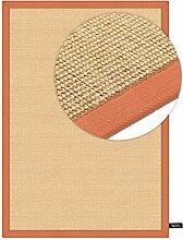 benuta Sisal Teppich mit Bordüre Orange 160x230