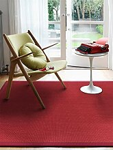 benuta Sisal Teppich mit Bordüre Rot 140x200 cm  