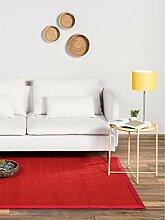 benuta Sisal Teppich mit Bordüre Rot 160x230 cm |