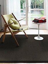 Benuta Sisal Teppich mit Bordüre Schwarz 120x180