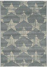 benuta Teppich Justin Hellblau 80x150 cm | Moderner Teppich für Wohn- und Schlafzimmer