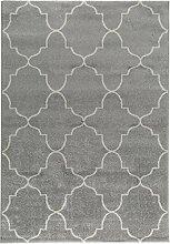 benuta Teppich Justin Hellgrau 80x150 cm  