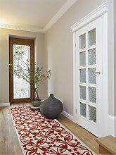 Benuta Teppich Läufer Kaleido Orange 80x290 cm | Moderner Teppich für Wohn- und Schlafzimmer