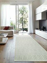 benuta Teppich Läufer Sloan Türkis 80x300 cm | Moderner Teppich für Wohn- und Schlafzimmer