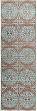 benuta Teppich Läufer Visconti Braun/Türkis 70x240 cm | Moderner Teppich für Wohn- und Schlafzimmer