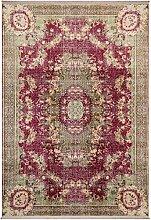 Benuta Teppich mit Print Siljan Beige/Pink 130x190