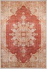 benuta Teppich mit Print Siljan Beige/Rot 130x190
