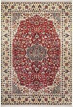 benuta Teppich mit Print Siljan Beige/Rot 160x230