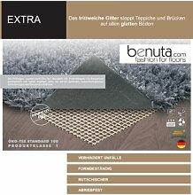 Benuta Teppichunterlage Extra für glatte Böden Weiß 120x180 cm | Moderner Teppich für Wohn- und Schlafzimmer