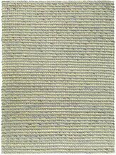 benuta Wollteppich Flachgewebe Pune Gelb 80x240 cm | Naturfaserteppich für Wohnzimmer und Schlafzimmer