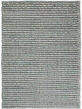 benuta Wollteppich Flachgewebe Pune Türkis 80x240