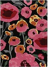 Benuta Wollteppich Matrix Calisto Schwarz 120x170