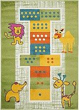 benutaKinder- und Spielteppich Noa Let's Jump! Multicolor 80x150 cm | Teppich für Spiel- und Kinderzimmer