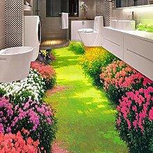 Benutzerdefinierte 3D Boden Tapete Blumen Kleine