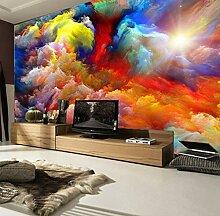Benutzerdefinierte 3D Bunte Wolken Fototapete Für
