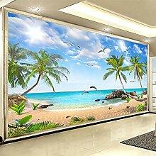 Benutzerdefinierte 3D-Fototapete Beach Seascape