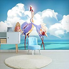 Benutzerdefinierte 3D Fototapete Flamingo Leinwand