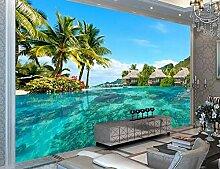 Benutzerdefinierte 3D Fototapete Malediven Meer