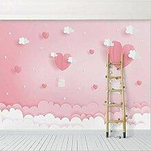 Benutzerdefinierte 3D-Fototapete Rosa Wolken