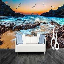Benutzerdefinierte 3D-Fototapete Sandy Beach