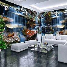 Benutzerdefinierte 3D-Fototapete Stein Wasserfall