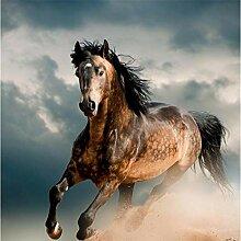 Benutzerdefinierte 3D Fototapete Tierbraunes Pferd