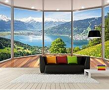 Benutzerdefinierte 3D Stereo Fototapete 3D Balkon